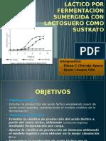 Cinetica de La Produccion de Acido Lactico