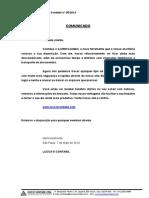 Comunicado 2014 5 E CRM