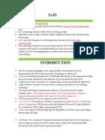 Li Fi Descriptions