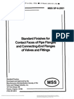MSS SP 6 - Standard Finishes for Contact Faces of Pipe Flanges and Connecting-End Flanges of Valves and Fittings - 2001