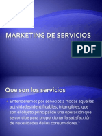Marketing de Servicios.