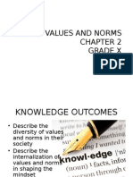 chapter 3 social values and norms