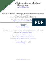 Hydrogen as a Selective Antioxidant (pdf)