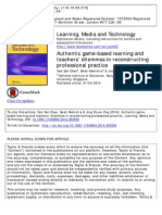 Authentic Game-based Learning and Teachers' Dilemmas in Reconstructing Professional Practice