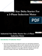 Industrial Star Delta Starter for a 3-Phase Induction Motor