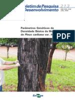 Densidade Básica Da Madeira de Pinus