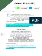 Diário Federal 21.09.2015