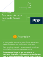 Funciones del Tutor Dentro de Canvas