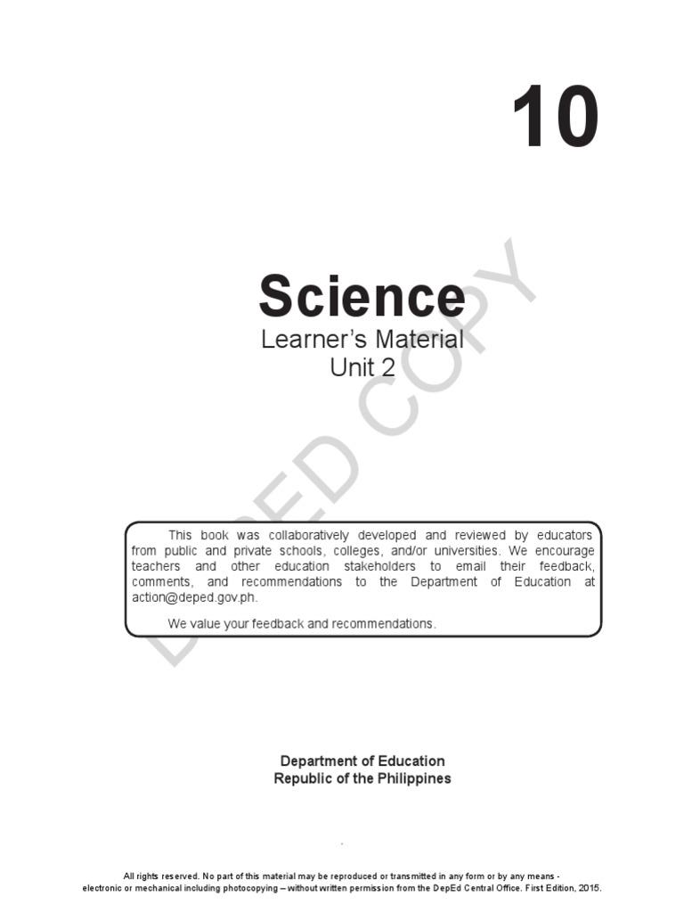 Grade 10 Science Unit 2 pdf | Transformer | Sound Recording