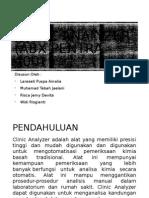 Clinic Analyzer (ABX Pentra 400)