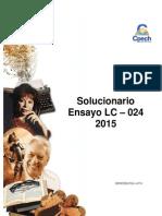 Solucionario Ensayo LC-024 2015