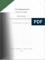 Deleuze - Immanence a Life (Intro.-chap1)