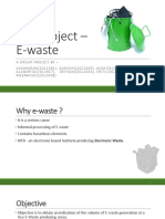 EVS Project - E-waste