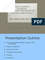 Presentation - What to Expect?  Examining the Role of Pre-departure Cultural Orientation