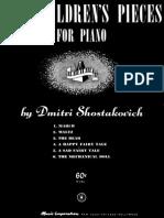 Shostakovich Op 69 Six Children s Pieces for Piano