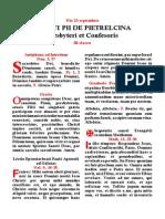 San Pío del Pietrelcina. Hoja del misal. Forma Extraordinaria del Rito Romano