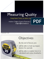 Impact Factor in 15 minutes