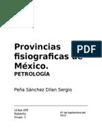 Provincias Fisiograficas de México