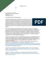 Platt/Sickles Letter