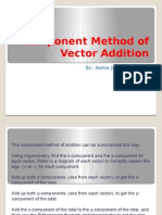 Component Method of Vector Addition