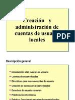 3.- Creacion y Administracion de Cuentas de Usuario Locales