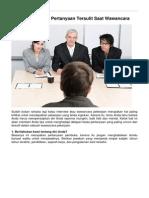 BKK FT UNY - Tips Menjawab 18 Pertanyaan Tersulit Saat Wawancara - 2013-09-19