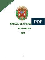 MANUAL  DE PROCEDIMIENTOS OPERACIONES POLICIALES    RD. N° 30 de 15ENE2013