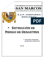 Estimacion de Riesgo Villa El Salvador