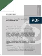 Guatemala, Desarrollo, Democracia y Los Acuerdos de Paz