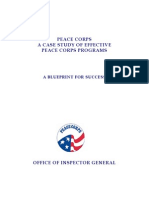 Peace Corps Program Study Report 11-  A BLUEPRINT FOR SUCCESS -  OIG 2007 January