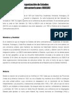 organiazacion de estados centroamericanos