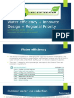 Water efficiency + Innovate Design + Regional Priority