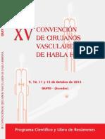 Programa científico y libro de abstracts Quito 2015
