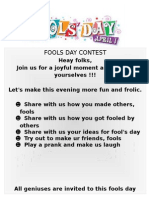April Fool's Day Contest