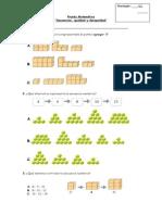 Prueba de Matemática Secuencias