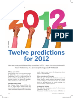 Twelve Predictions for 2012 (Life Positive)