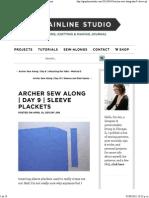 Archer Sew Along _ Day 9 _ Sleeve Plackets _ Grainline