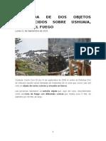 La Caída de Dos Objetos Desconocidos Sobre Ushuaia