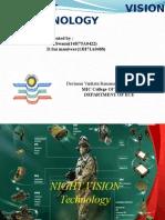 Ppt on Night Vision Technology of Vvit (1)