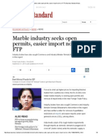 Article Business Standard Marble Industry