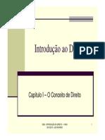 Capitulo I - O Conceito de Direito_2013