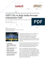 GIFT City to Help India Become Reinsurance Hub _ Business Standard News
