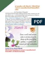 Shri Shirdi Sai Speaks for 11th March