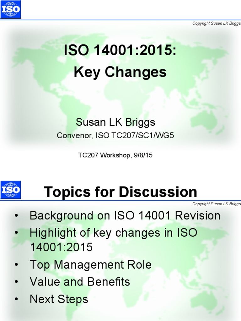 iso 14001 revision 2015 changes