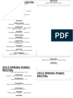 Winter 2013 Piano Recital Program