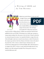 Notes on Grok and Imagined by Tom Maremaa