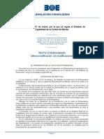 Ley 7-2015, Por La Que Se Regula El Estatuto de Mérida