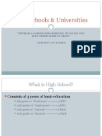 high schools   universities 2
