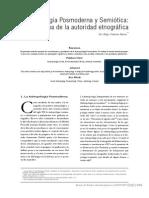 Antropologia Posmoderna y Semiotica