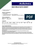 Alloy weld 4643